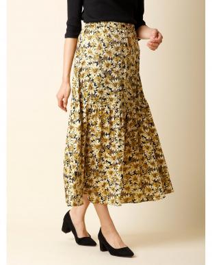 レンガ2 《musee》フロントボタンフラワースカート CLEAR IMPRESSION見る