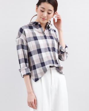 カーキ3 バックロングシャツ CLEAR IMPRESSION見る