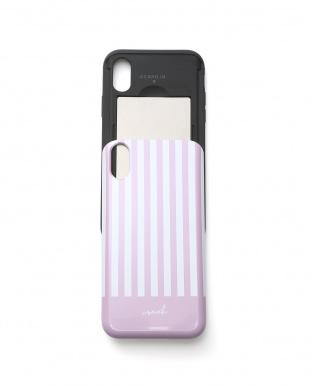 モーヴピンク カードケース&ミラー付きiPhoneケースを見る