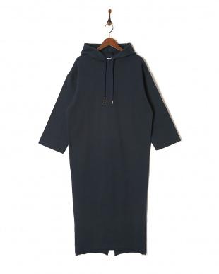 ネイビー HOODIE SWEAT DRESSを見る