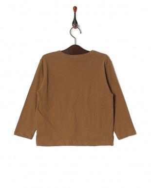 ブラウン 【isookbaby】ニュアンスカラーロングスリーブTシャツを見る