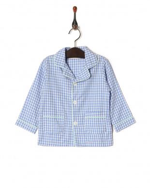 ブルー 【isookbaby】ギンガムチェックパジャマを見る