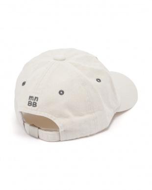 アイボリー 【isookbaby】ロゴ刺繍capを見る