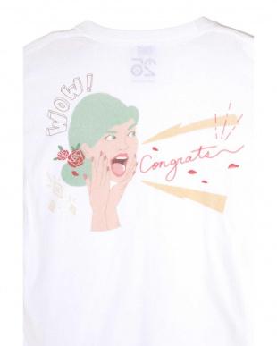 ホワイト1 バックプリントTシャツ R/B(オリジナル)見る