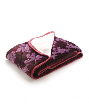 ピンク 高品質フランネル敷きパッド(吸湿発熱わた使用)を見る