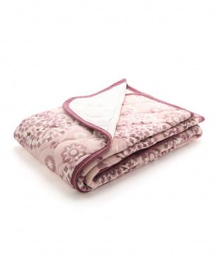 ピンク フランネル敷きパッド(吸湿発熱わた使用)を見る