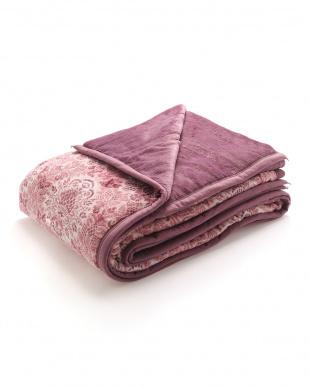 ピンク 綿入りふわふわ毛布(オーナメント)を見る