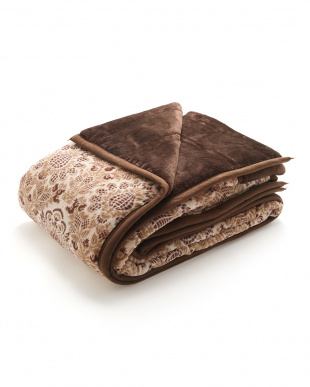 ブラウン  綿入りふわふわ毛布(オーナメント)を見る