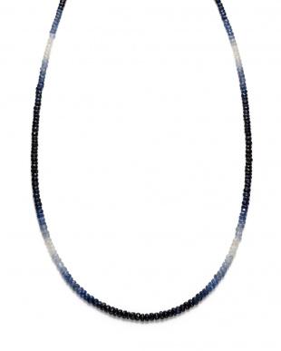 ブルー シルバー グラデーションサファイア ネックレスを見る