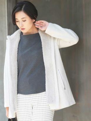 ライトグレー 【2WAY】エコファーポイントライトジャケット GEORGES RECH見る