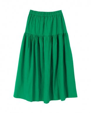 グリーン ティアードロングスカートを見る