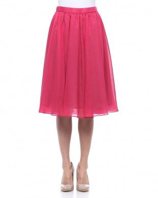 ピンク系 ブライトスパン フレアスカートを見る