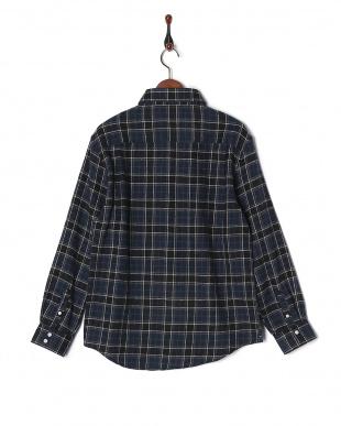 ネイビー CYA/CHECK SHIRT LUCKYビエラチェックシャツRGシャツを見る