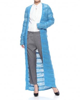 blue RHNSICL MR.SIMPLE RIDGE LONG CARDIを見る
