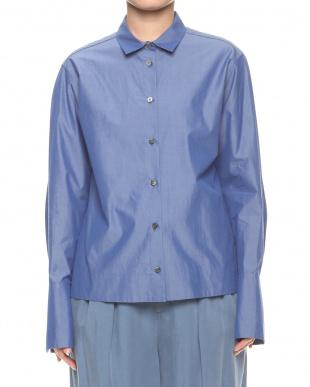 ブルー 120/2タイプライターシャツを見る