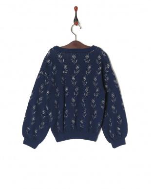 ネイビーブルー セーターを見る