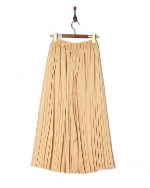 イエロー ロングプリーツスカートを見る