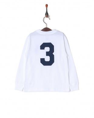 WHITE コットン ロングスリーブ Tシャツを見る