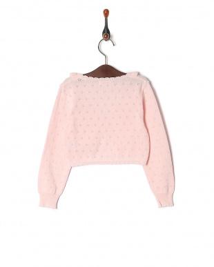 ピンク 綿横編ボレロを見る