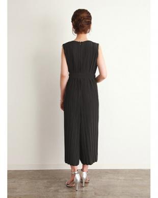 ブラック [Psize][STYLE DELI DRESS]プリーツオールインワンを見る