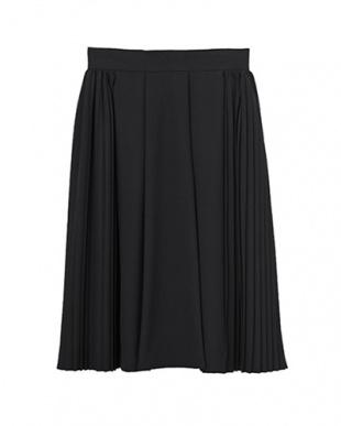 ブラック [Made in JAPAN]サイドプリーツフレアスカートを見る