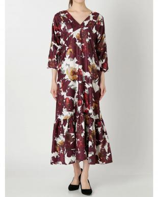パープル ELIN/Floral v-neck dress ELENDEEKを見る