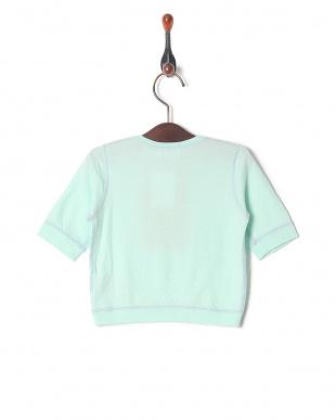 グリーン 60/-スーピマソロセッケツ ベビー5ブソデTシャツを見る
