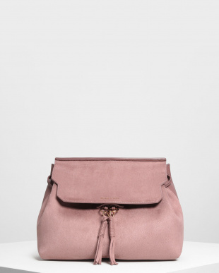 Mauve タッセルディテール フロントフラップ バックパック / Tassel Detail Front Flap Backpackを見る