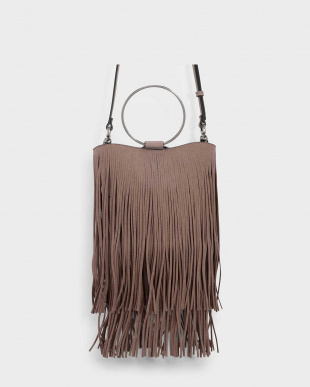 Taupe フリンジディテール バッグ / FRINGE DETAIL BAGを見る