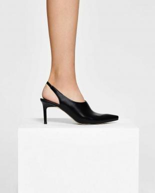 Black スリングバック ポインテッド ヒール / Slingback Pointed Heelsを見る
