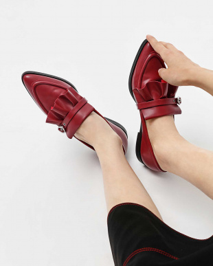 Red  ラッフルディテール ローファー / RUFFLE DETAIL LOAFERSを見る