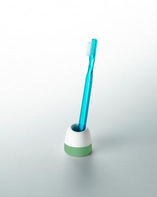 グリーン 珪藻土歯ブラシスタンド(1本用)2個セットを見る