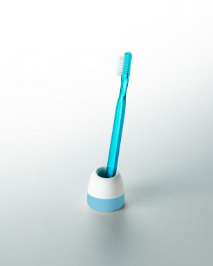 ブルー 珪藻土歯ブラシスタンド(1本用)2個セットを見る