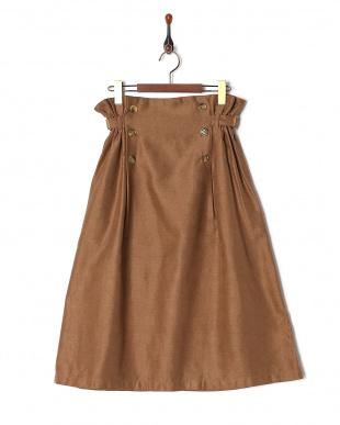 キャメル  脇ベルトスカートを見る