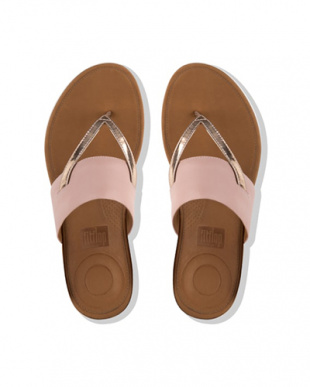 Dusky Pink / Rose Gold Mirror DELTA TOE-THONG SANDALS - LEATHER / MIRRORを見る