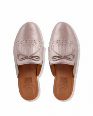 Blush/Metallic Nude SUPERSKATE FRINGE SLIP ON MULES - METALLIC LEATHERを見る
