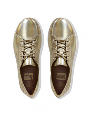 GOLD F-SPORTY SCOOP-CUT PERF SNEAKERS - LEATHERを見る