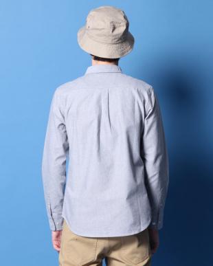 グレー 綿オックスボタンダウンシャツを見る