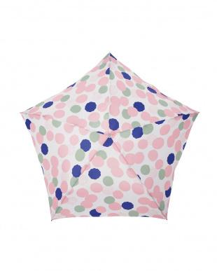 ブルーミングドット ローズ 軽量折りたたみ傘(デザイン)を見る