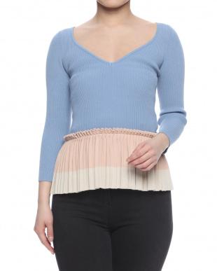 水色/ピンクベージュ/クリーム sweaterを見る