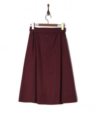 ボルドー ベルト付タックフレアースカートを見る