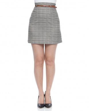 RG チェック柄トラペーズスカートを見る