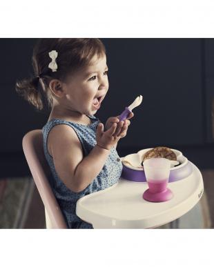 ピンク/パープル ベビープレート・スプーン&フォーク2セットを見る