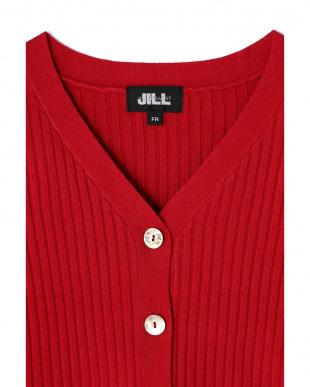 レッド オータムリブカーディガン Jill by Jill リプロを見る