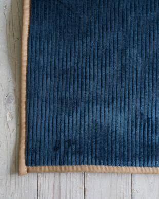 ネイビー 洗えるフランネルストライプキッチンマット『グルーヴ』 45×180cmを見る