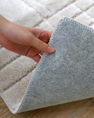 ベージュ 洗えるふかふかキッチンマット『シェール』 55×180cmを見る