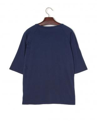 ネイビー BEACH BREAKクルーネック 七分袖Tシャツを見る