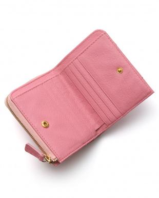 インデアンピンク オーストリッチコンパクト財布を見る
