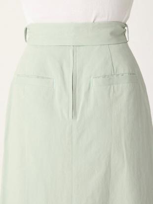 ミントグリーン ミディ台形ラップスカート dazzlinを見る