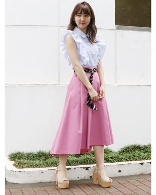 ピンク スカーフベルトスカート dazzlinを見る